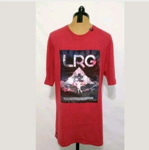 LRG Red Graphic Logo Cotton T-Shirt Size M